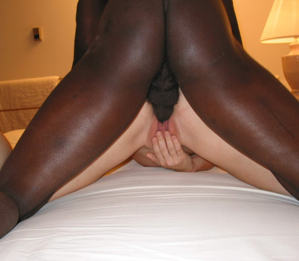 Sexy wife getting some BBC while hubby takes pics of her being rammed