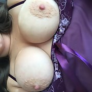 Purple Lingerie, Big tits for Dominant Black Man