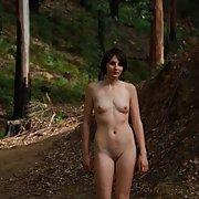 Sexy photo of pixzigirl on a nature walk