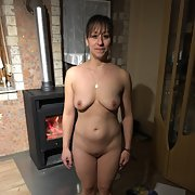 MILF MATURE WHORE WIFE showing her goodies