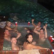 Wild sex party amateurs hot tub orgy