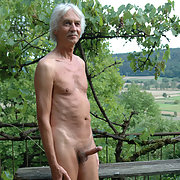 Outdoor nude in the garden waiting for the sun to come