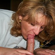 Mature woman sucking dick very passion, making dick go bright red