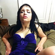 Big dick fuck for cute brunette with spunk facial