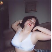 My pic taken this past summer just me posing flashing bra at camera