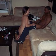 White girlfriend getting sodomised by black hunk hard and deep