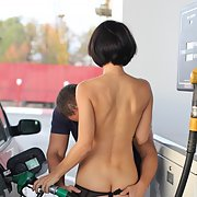 Amateur exhibitionist naked on the road and wild sexual experiences