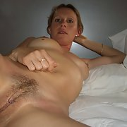Sexy swinger wife and mom posing and showing off her sweet box