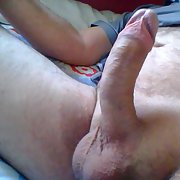 Naked mature guy loves exhibiting himself and wanking