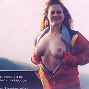 Wife who loves taking the risk of being seen naked in public