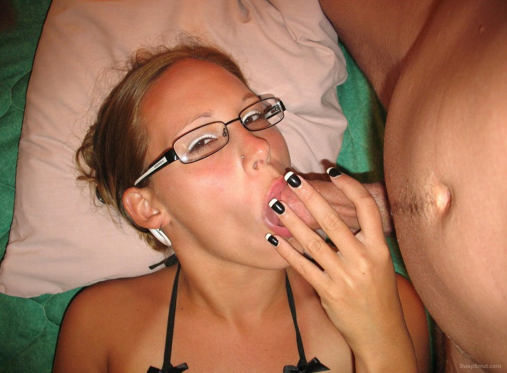 Shooting cum up her holes and on her face