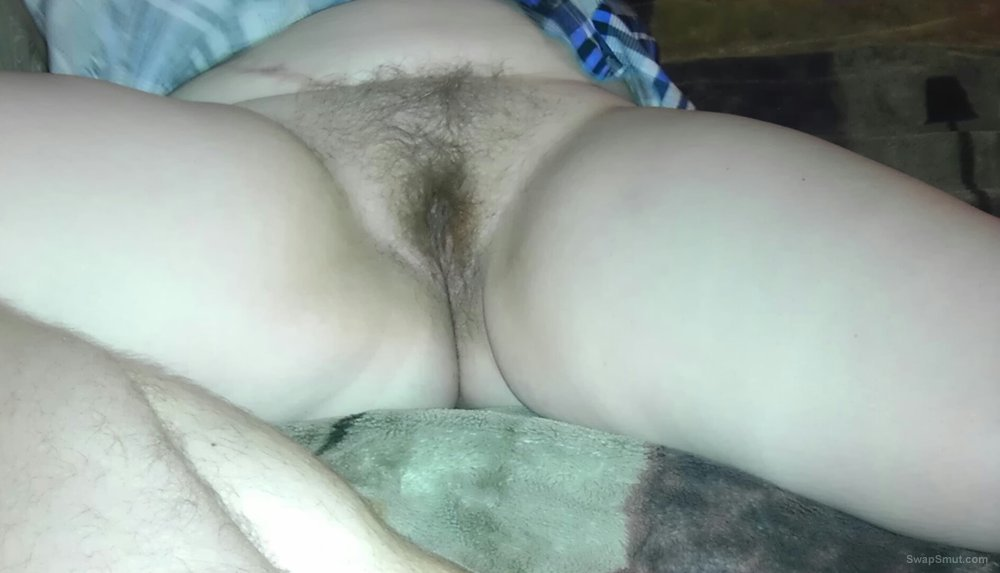 My new girlfriend chubby and wonderfully hairy and she is not shy