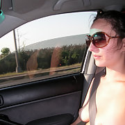Arya Displays Her Hot Body for the Passing Drivers During a Drive