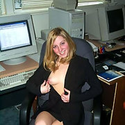 Julie the sexy part time secretary who likes to show off her body
