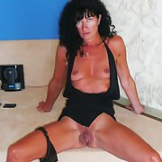 Sexy French milf posing for hubby and you showing her gash