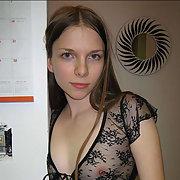 Nice girl giving a nice blowjob stripping off victorias secret panties