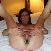 MILF Diane Inserts a Butt Plug into Her Luscious Ass