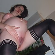Scarlet Cat - The Naughty Engish Stockings Exhibitonist Pregnant