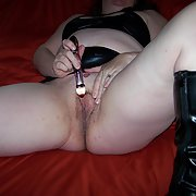 Love to tease and pose for my hubby masturbating with sex toy