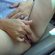 In the car on vacation and we get so horny on the way we need to pull over