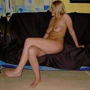 sexy slut private pics on the sofa
