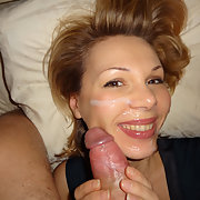 I go crazy when sucking dick and hot sperm gets into my mouth and face