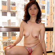 Asian wife showing off for the Town