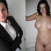 Amateur women dressed and then undressed