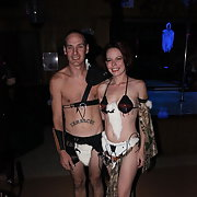Jacq and I at a Halloween swinger party group sex fun in the club