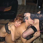 Mature bitches at swinger party teasing men getting bent over fuck