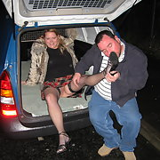 Bristol dogging slut Cath having sex in the back of a van