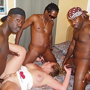 Mature bitch fucking with her ​​black lover, BBW interracial sex orgy