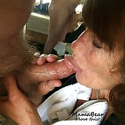 Mama loves to suck cock, and goes down more than an elevator