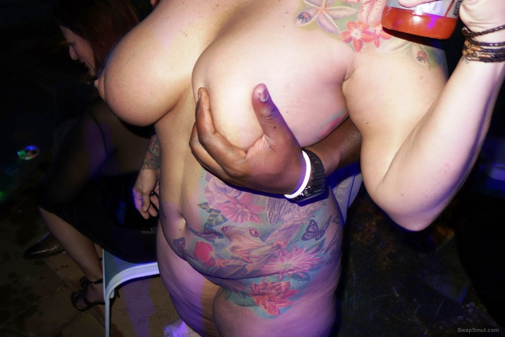 Tatted Party Slut having lots of sex at Swing Party
