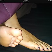 Wife beautiful feet and long toes for foot fetish lovers