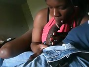 A horny zulu girl sucking her mans hard one