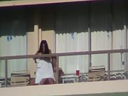 Couple filmed fucking on hotel balcony