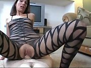 Mature whore gets her vagina creampied during sex
