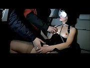 The young secretary gets some bloke to wank over her in the car on Saturday night