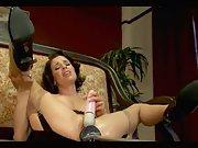 Wife enjoys dildos and sex machine fucking with a smile