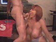 Big tit MILF sucking cocks in homemade compilation