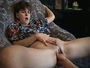 Guy fists his hot wife to an orgasm sliding whole hand in and out