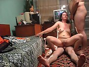 Wife swinging with a new friend riding him while sucking off partner