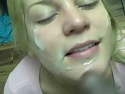 Gloria just loves black guys letting us probe her holes and cum on face