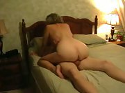 Mature housewife filmed by husband having sex with another man