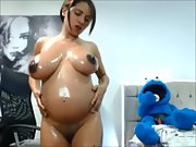 Amateur hottie busty slut webcam exposed before and during pregnancy
