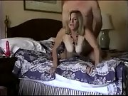 Big tits wife gets it from behind