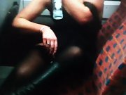 Mrs toodosex4u getting Horny on train and giving strangers a show