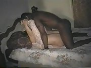 Cuckold wife whored out with two black bulls intent on seeding her
