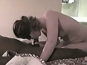 IR First Time BBC stretching her pussy with thick black penis
